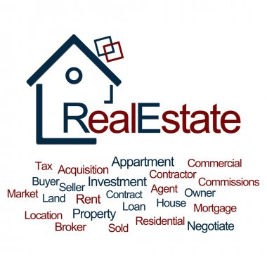 Real Estate Blue Red