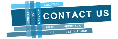 Contact Us Blue Strips