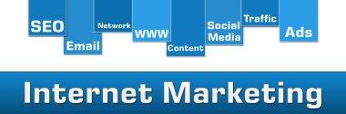 Internet Marketing Blue Stripe Banner