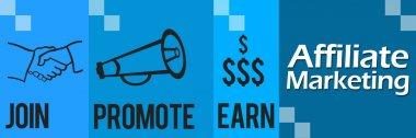 Affiliate Marketing Blue Four Blocks Horizontal