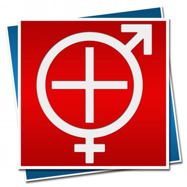Sexual Health Sign Red Blue