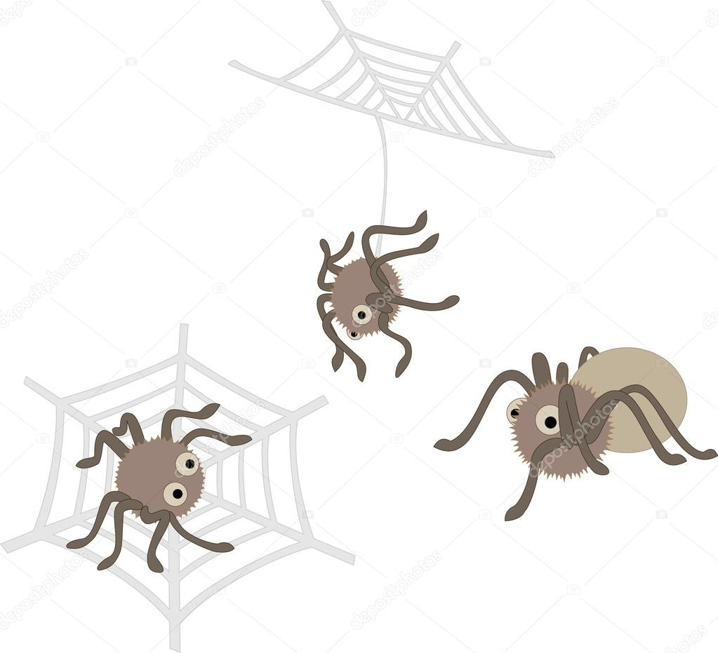 Cute vector spiders
