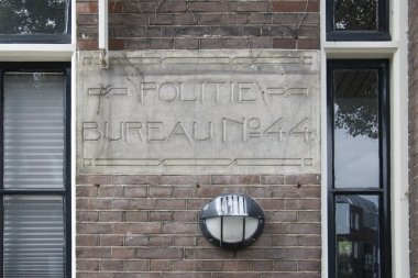 At the Police station on the Pieter Aertszstraat Amsterdam