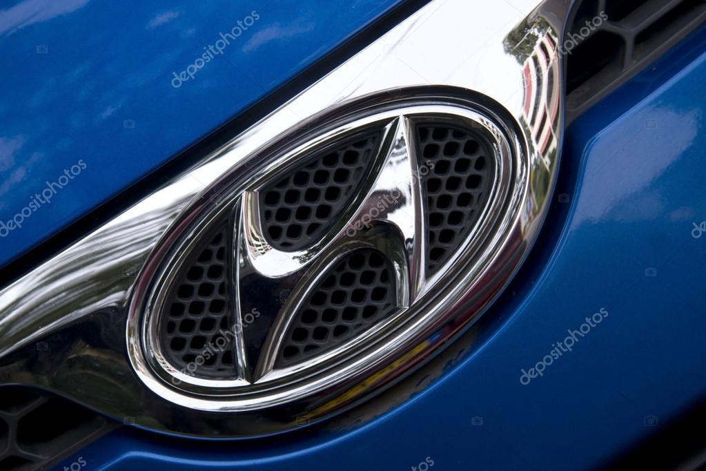 Logo Van Auto Merk Hyundai Nederland Redactionele Stockfoto