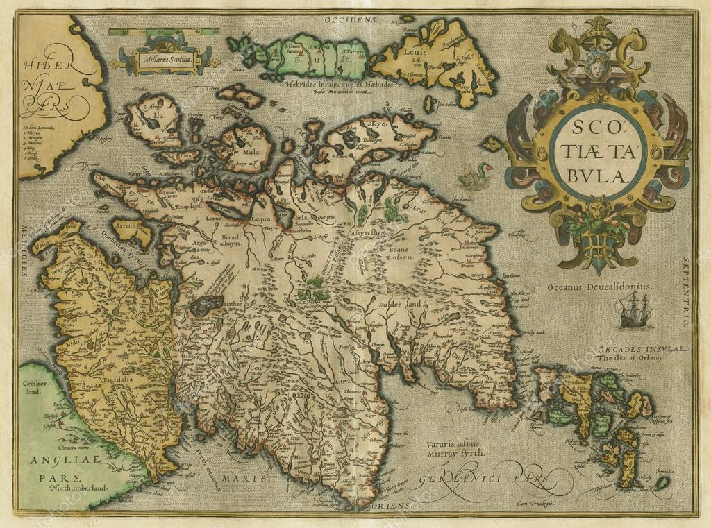 Old map of Scotland — Stock Photo © fedor-denisov #14374107