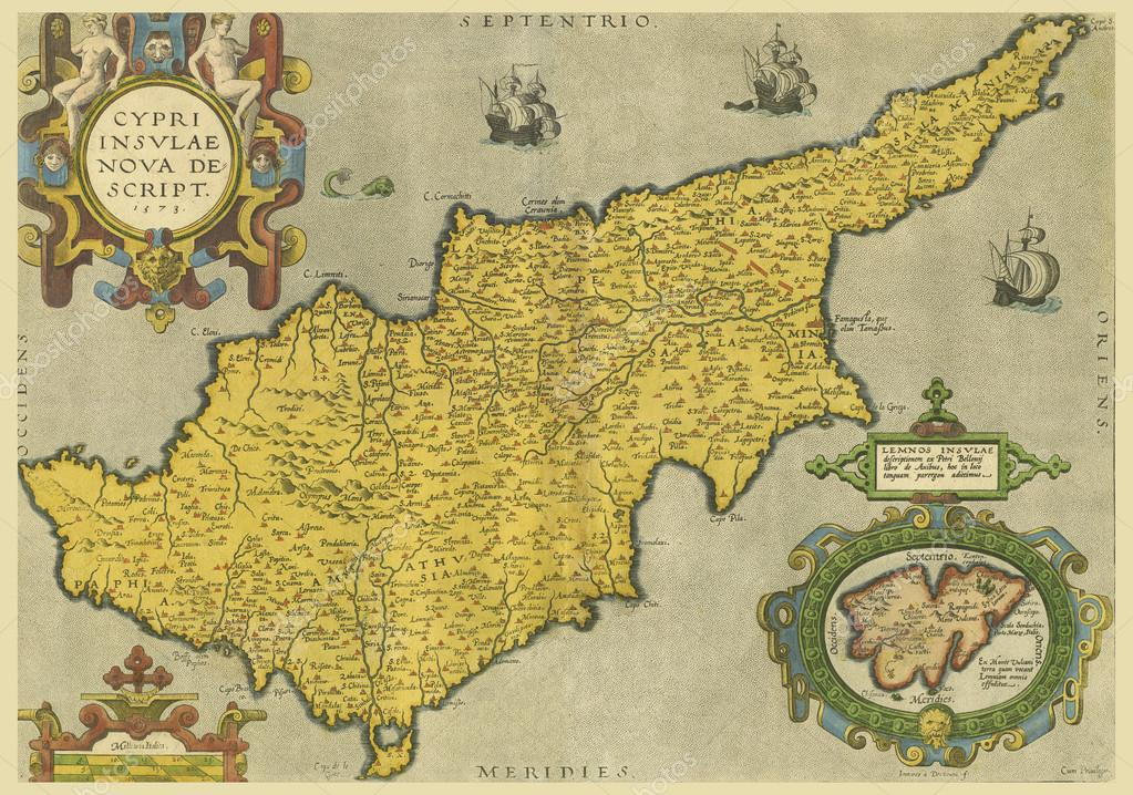 Old map of cyprus stock photo fedor denisov 14374973 atlas of the world of the 16th eyelid abraham ortelius the scanned image photo by fedor denisov gumiabroncs Gallery