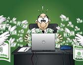 Fotografie Losing money on the web - Dollar Version