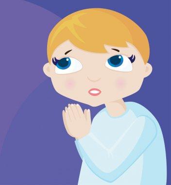 Prayer of the little boy
