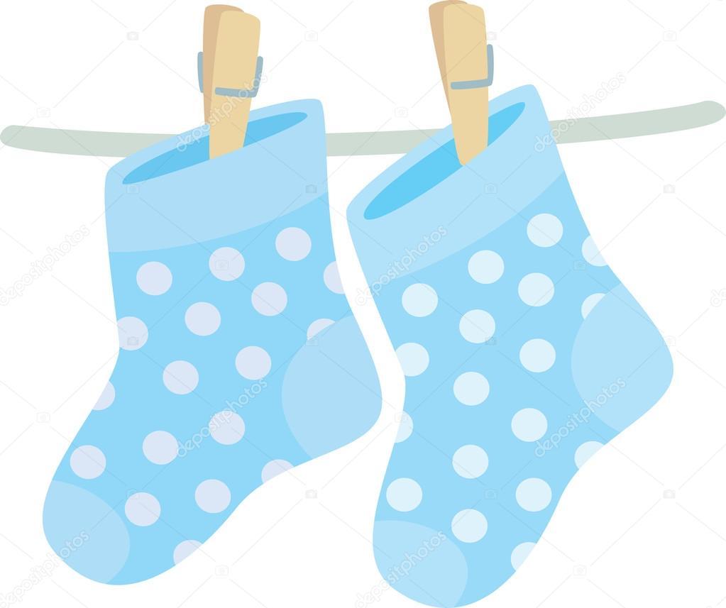 Baby Boy Socks Stock Vector C Primovich 19626479