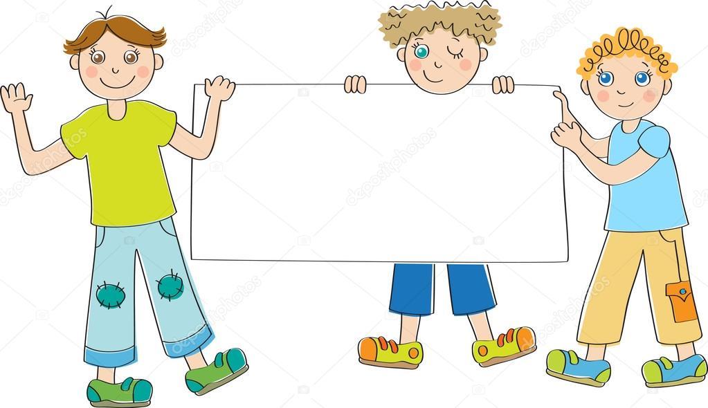Actividades Manuales De Letrero Pergamino Del D繝箝a De La Madre Es: Niños Con Letreros En Blanco
