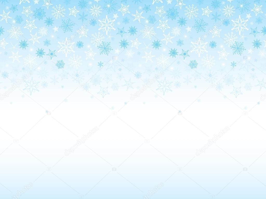 Falling Snowflakes Seamless Horizontal Background