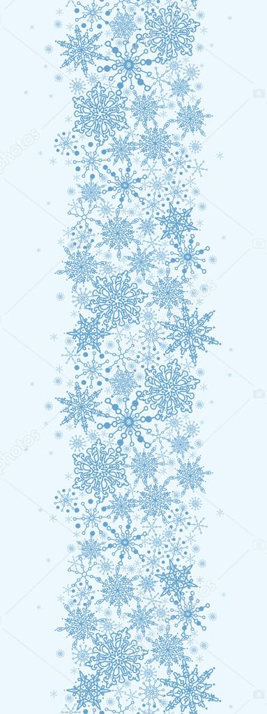 Snowflake Texture Vertical Seamless Pattern Border