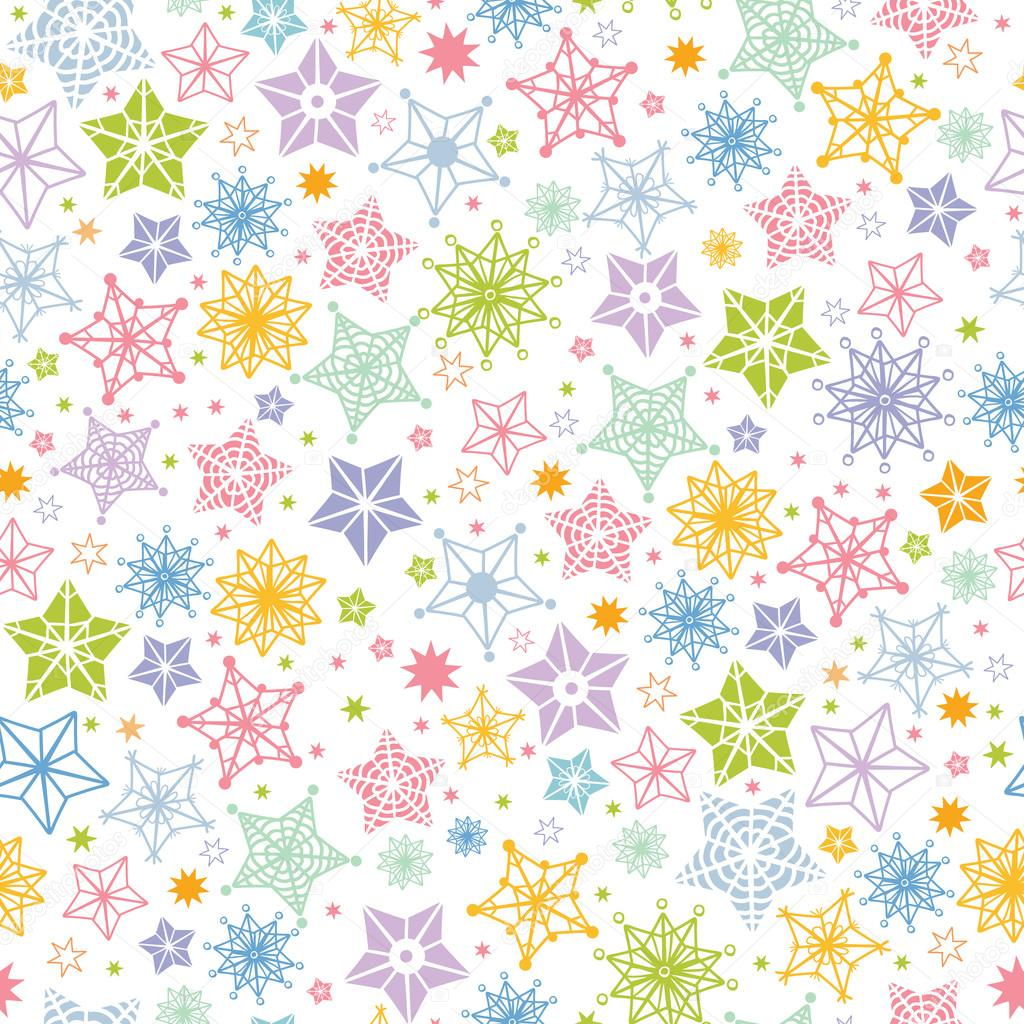 Colorful stars seamless pattern background