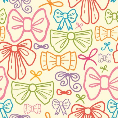 Colorful bows seamless pattern background