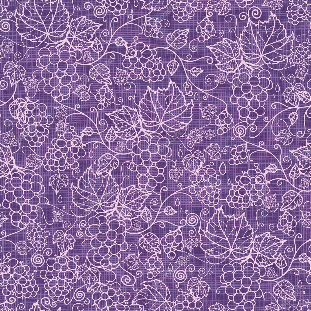 Lace grape vines seamless pattern background