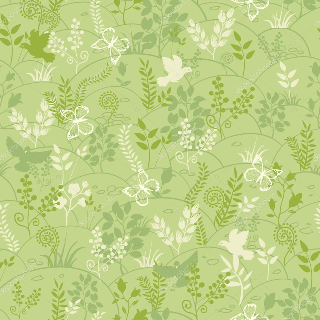 Green nature seamless pattern background