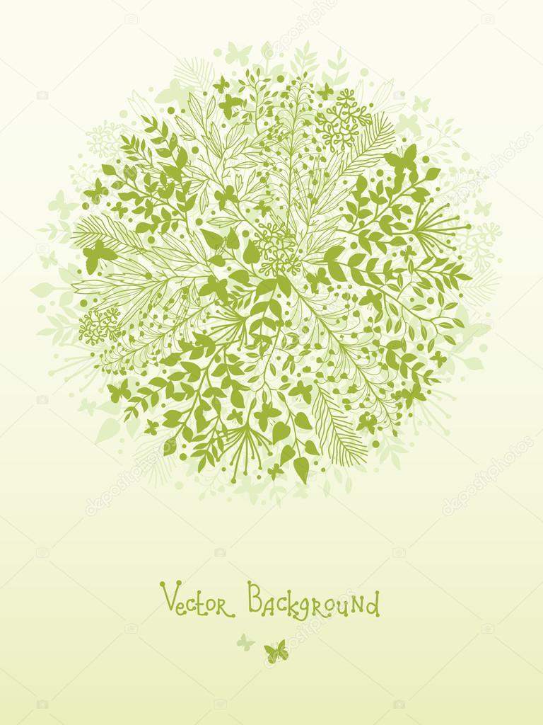 Green nature circle design element background
