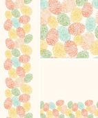 Fotografia sfondo seamless pattern impronte colorate