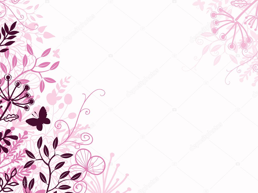 Pink and black floral background backdrop