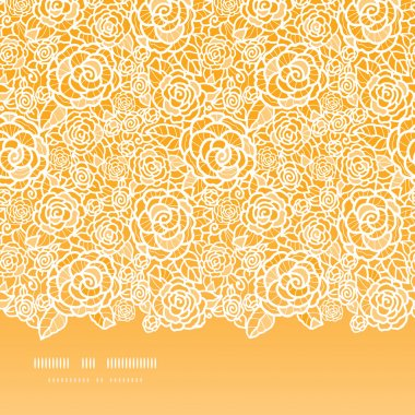 Vector golden lace roses horizontal seamless pattern background with hand drawn elements clip art vector