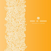 Fotografie Golden lace roses vertical seamless pattern background