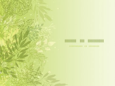 Fresh glowing spring plants horizontal background