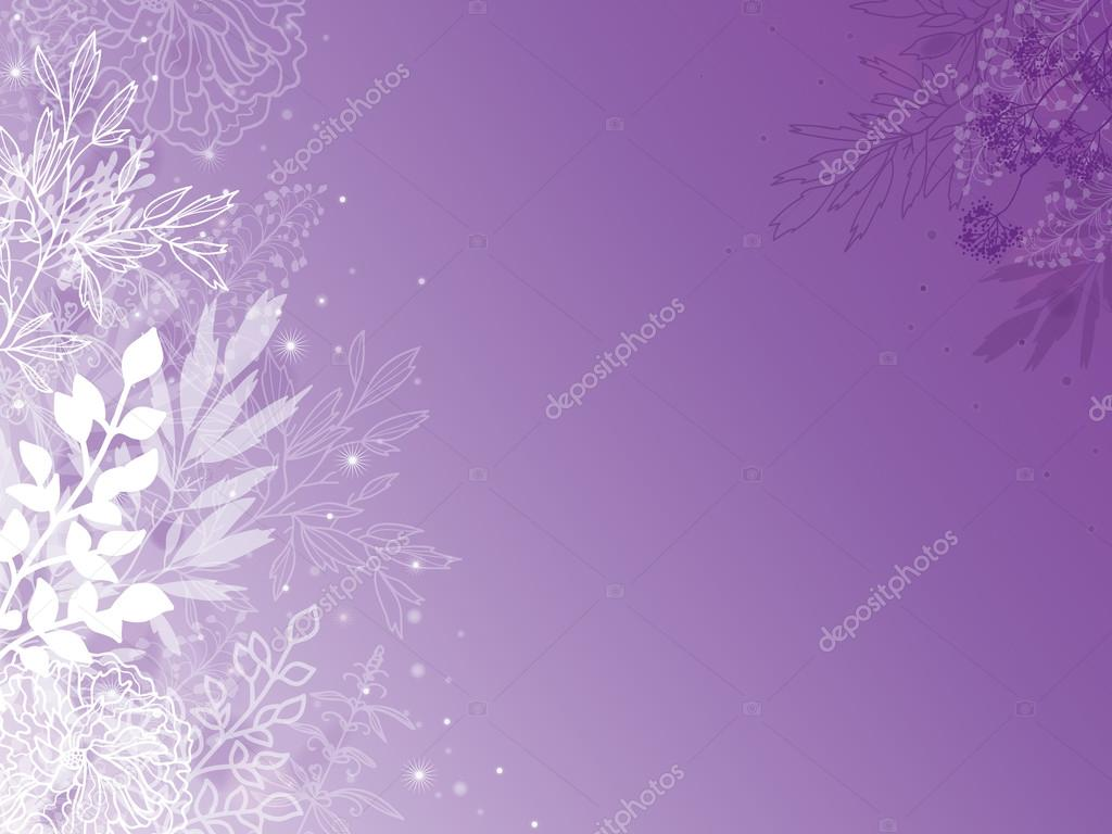 Magical silhouette plants horizontal background