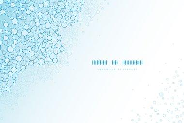 Molecular structure scientific horizontal template background