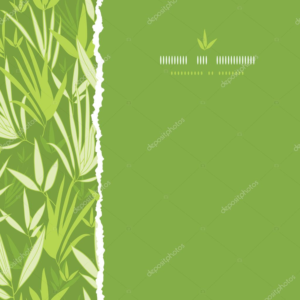 Bamboo branches torn square seamless pattern background