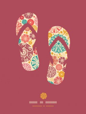 Abstract decorative circles flip flops pattern background