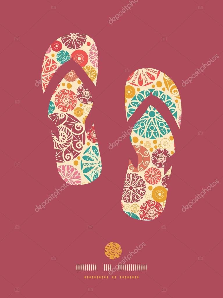 e3accf341e39 Vector abstract decorative circles flip flops pattern background with many  hand drawn ornamental oval shapes — Vector by OksanciaArt