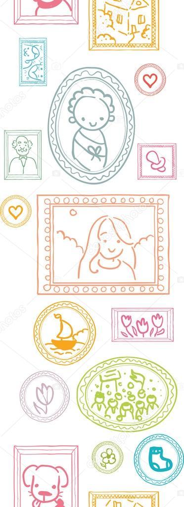 Fondo familiar enmarcado de cuadros de patrones sin for Enmarcado de cuadros precios