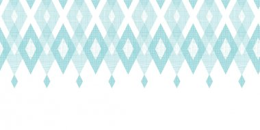 Vector pastel blue fabric ikat diamond horizontal seamless pattern background with hand drawn elements clip art vector