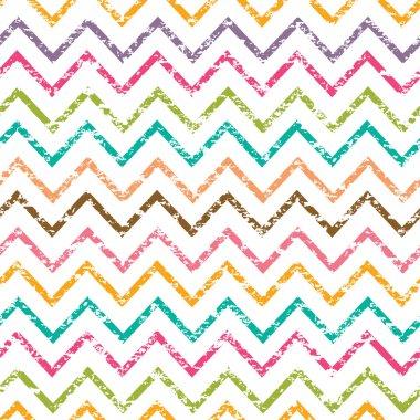 Colorful grunge chevron seamless pattern background