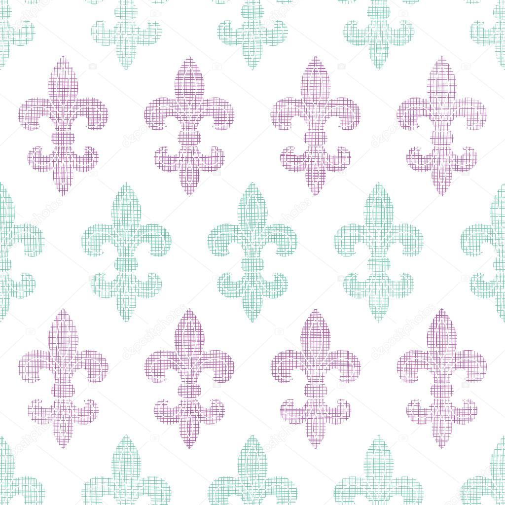 Abstract textile fleur de lis stripes seamless pattern background