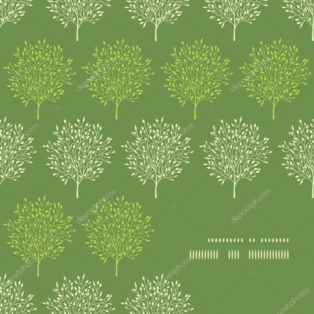Green trees stripes corner frame pattern background