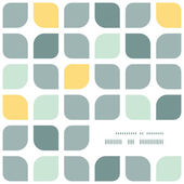 Photo Abstract gray yellow rounded squares frame corner pattern background