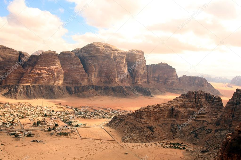 Beautiful view of the wadi rum in Jordan