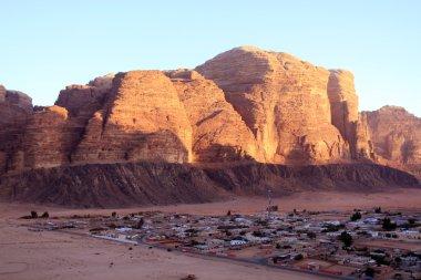 Beautiful view of the wadi rum in Jordan.