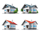 Photo Family houses cartoon icons