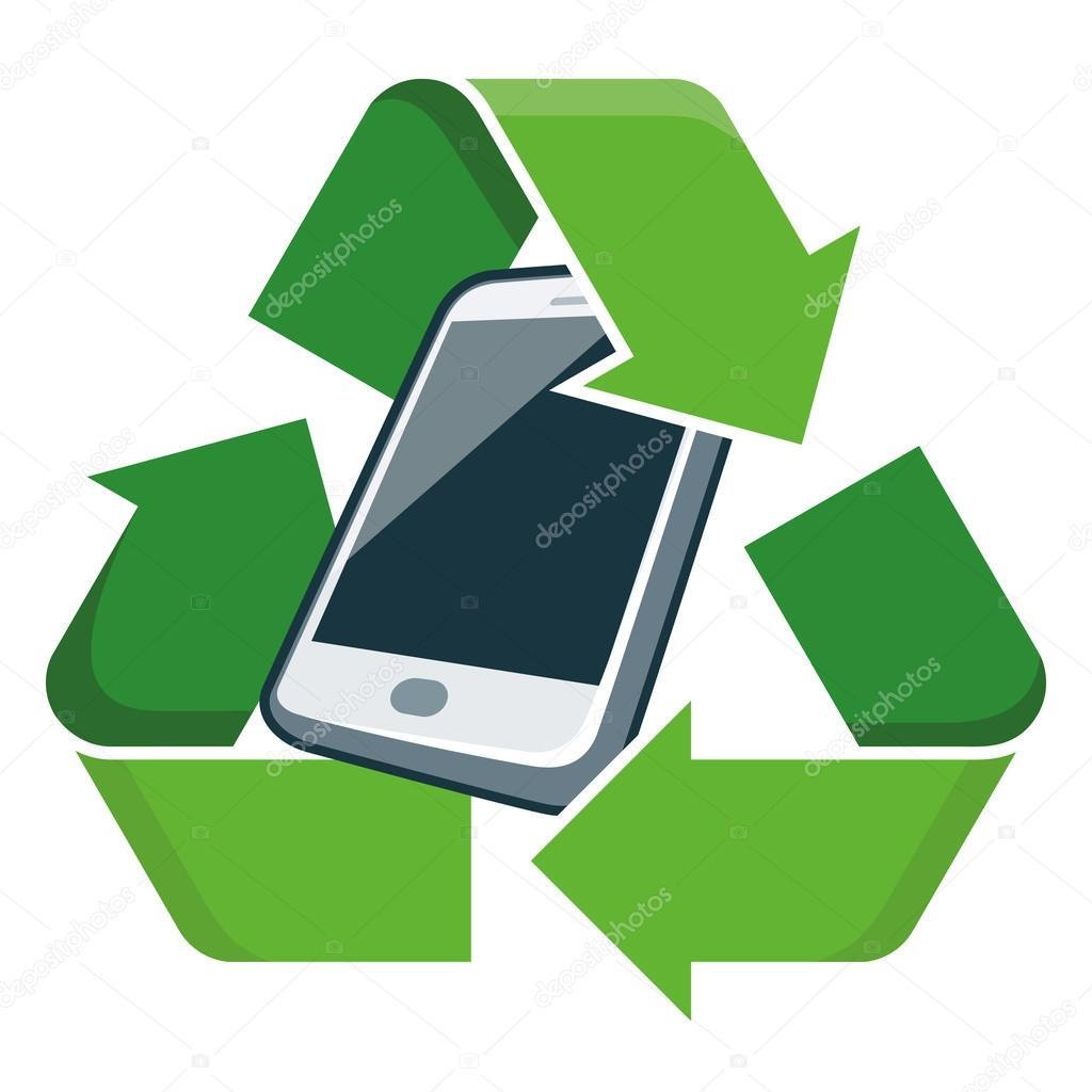 Recycle mobile phone stock vector petovarga 49798519 - Recycling mobel ...
