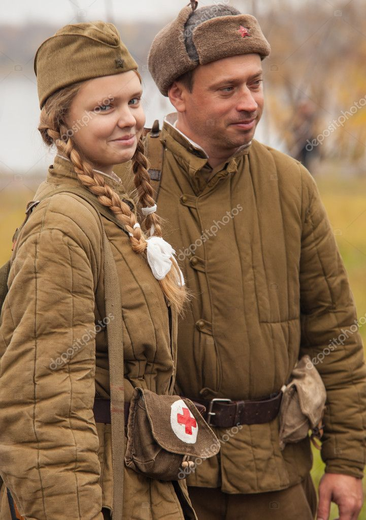 Members of Historical reenactment battle for liberation