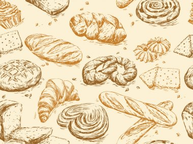 Vintage pattern bread