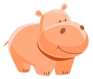 Funny orange hippo