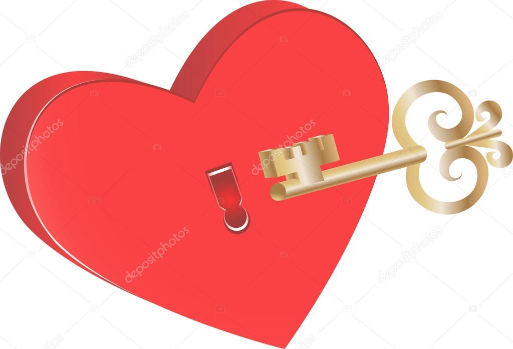 Key To Heart Symbol Of Love Stock Vector Ciripasca 19085571