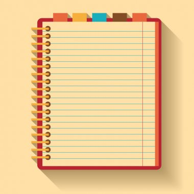 Notebook. Flat design.