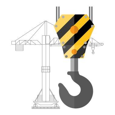 Crane hook icon or sign, vector illustration