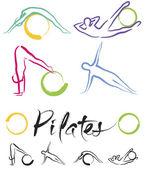 Illustrazione - classe di pilates