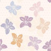Fényképek orchidea minta, polka dot design