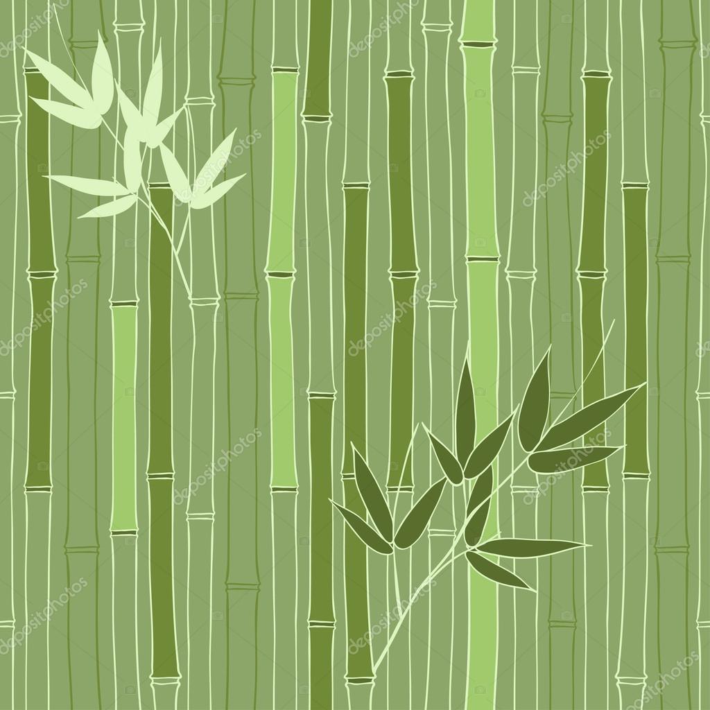 Seamless green bamboo pattern